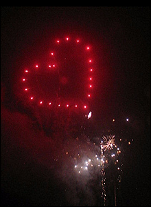 Heart Shaped Fireworks - Marquee Firework