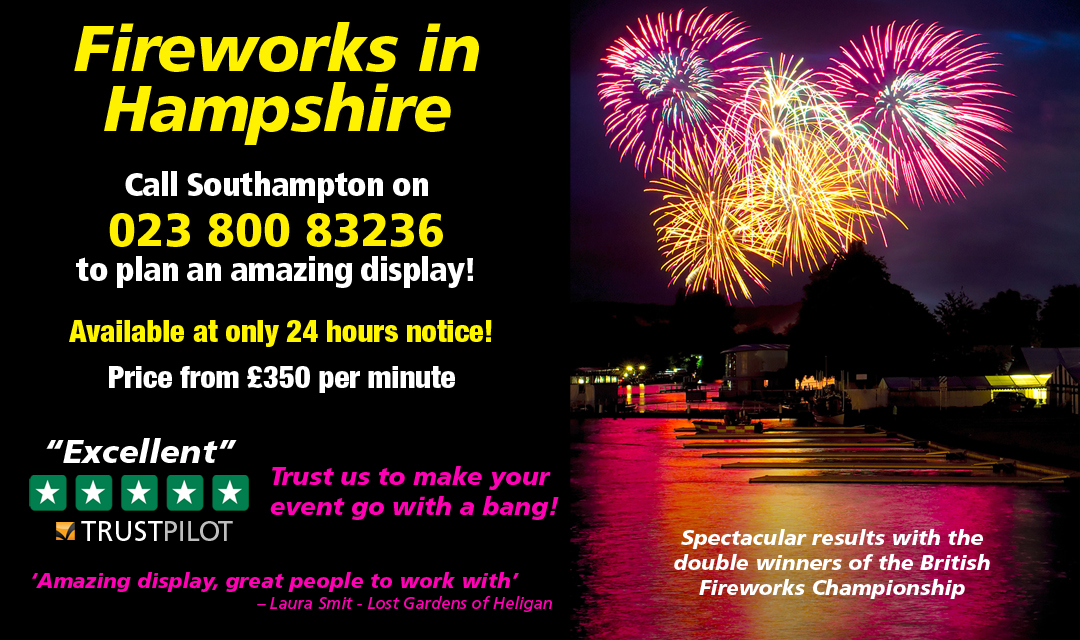 For Fireworks In Hampshire Call 023 800 83236