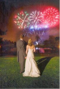 Intimate Wedding Fireworks - Marquee Firework