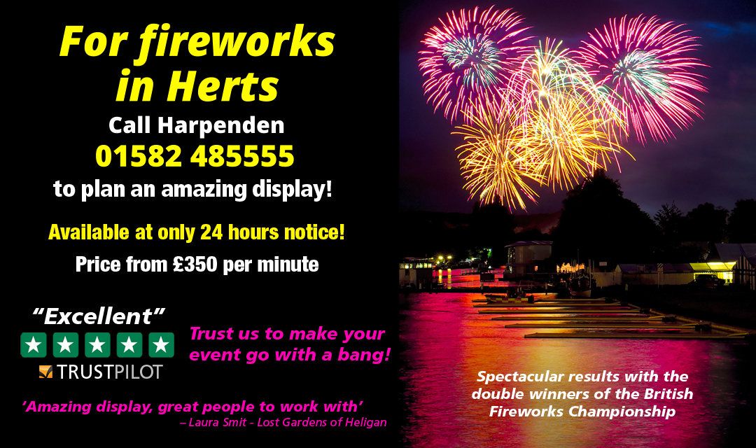 Looking For Hot Fireworks In Herts? Call 01582 485555