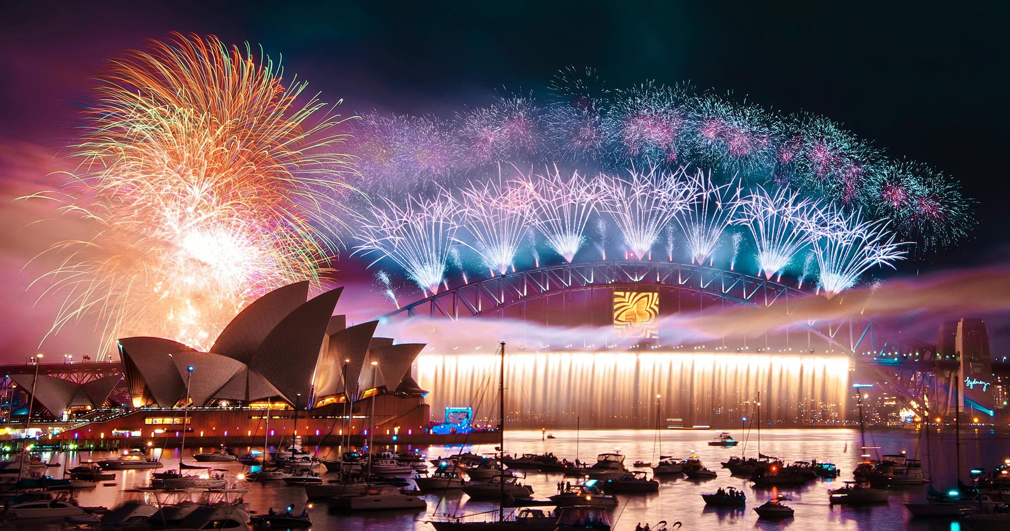 Celebrating New Year Fireworks Around The World