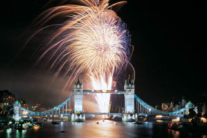 Professional Fireworks Displays | London New Year's Eve at Tower Bridge